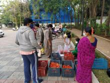 Residents buying at Indu Fortune