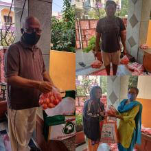 Selling tomatoes at Attapur